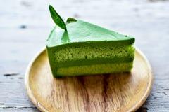 De groene Cake van de Thee Stock Afbeeldingen