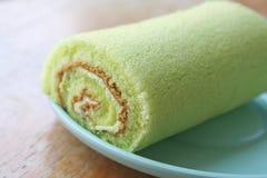De groene cake van het theebroodje stock afbeelding