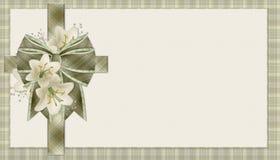 De groene Christelijke DwarsAchtergrond van de Plaid Royalty-vrije Stock Fotografie