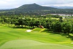 De groene cursus van het Golf Royalty-vrije Stock Foto