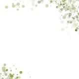 De groene Dalingen van de Waterkleur op een Witte Achtergrond Stock Foto's