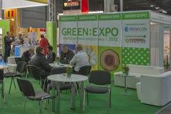 De GROENE de Alternatieve Energiehandel van EXPO toont Stock Foto