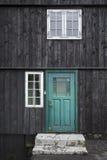 De groene deur Stock Foto