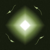 De groene Diamant barstte Richting Royalty-vrije Stock Foto