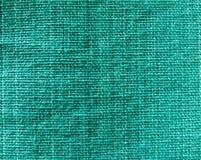 De groene donkere textuur van de lendendoekstof Stock Afbeelding