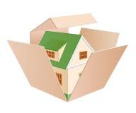 De groene doos van het plattelandshuisje Royalty-vrije Stock Fotografie