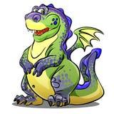De groene draak van het beeldverhaal Royalty-vrije Stock Afbeelding