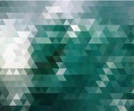 De groene driehoeks lage veelhoekige stijl als achtergrond en de geometrisch ontwerpgradiënt kleuren voor uw achtergrondontwerp royalty-vrije illustratie