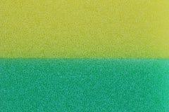 De groene en gele achtergrond van de sponsoppervlakte Stock Afbeeldingen