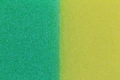 De groene en gele achtergrond van de sponsoppervlakte Royalty-vrije Stock Foto's