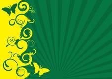 De groene en gele lente Stock Illustratie