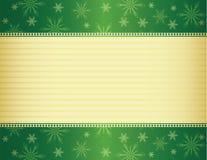 De groene en gouden achtergrond van Kerstmis Stock Afbeelding