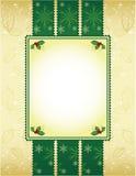De groene en gouden achtergrond van Kerstmis Royalty-vrije Stock Fotografie