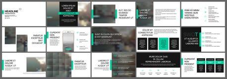 De groene en zwarte elementen van presentatiemalplaatjes Royalty-vrije Stock Afbeelding