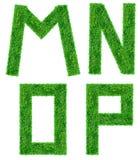 De groene geïsoleerden Brief van het Gras Stock Afbeeldingen