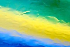 De groene gele en blauwe achtergrond van de waterdaling Royalty-vrije Stock Foto