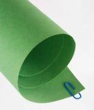 De groene Gerolde Samenvatting van het Document Stock Afbeeldingen