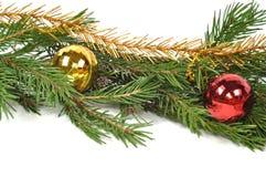 De groene grens van Kerstmis Royalty-vrije Stock Afbeeldingen