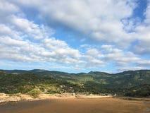 De groene heuvels in Phan belden, Vietnam royalty-vrije stock foto's