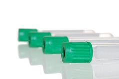 De Groene Hoogste Reageerbuis van de close-up Stock Foto