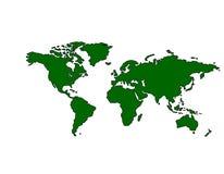 (De Groene) Kaart van de wereld Stock Afbeeldingen