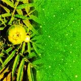 De groene kleur het groeien bloem met schittert effect computer geproduceerd achtergrondafbeelding en behangontwerp stock illustratie
