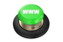 De Groene knoop van WWW Stock Afbeelding