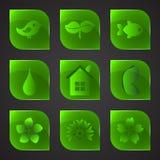 De groene knopen van glaseco vector illustratie