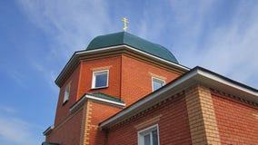 De groene koepel van de Orthodoxe kerk Stock Foto's