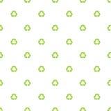 de groene kringloopachtergrond van het symboolpatroon Stock Foto's