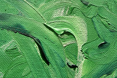 De Groene Krommen van Oilpainting Stock Afbeeldingen