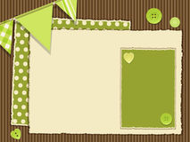 De groene lay-out van Scrapbooking vector illustratie