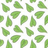 De groene lente verlaat naadloos patroon Vector illustratie Stock Foto's