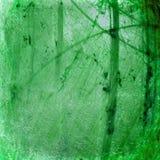 De groene lichtgevende gebarsten abstracte achtergrond van Grunge Stock Foto