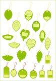 De groene markering van het bladetiket Royalty-vrije Stock Afbeelding