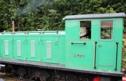 De groene Motor van de Toeristentrein in Strahan stock foto's