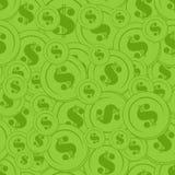 De groene Naadloze Achtergrond van het Muntstuk Stock Afbeeldingen