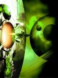 In de groene nevel stock illustratie