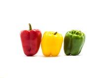 De groene paprika is ingrediënt in een gezonde voeding Stock Foto