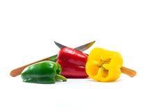 De groene paprika is ingrediënt in een gezonde voeding Stock Afbeelding