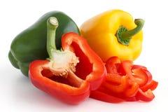 De Groene paprika's van het rood licht Royalty-vrije Stock Fotografie