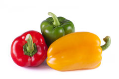 De Groene paprika van de ruwe en Verse Groente Stock Foto's