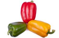 De Groene paprika van de ruwe en Verse Groente Royalty-vrije Stock Afbeeldingen