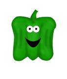 De Groene paprika van het beeldverhaal stock illustratie