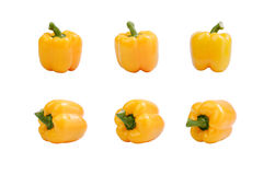 De groene paprika van Yallow. Stock Foto