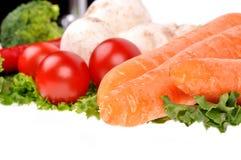 De groene peper van de saladewortel musrooms Stock Foto's