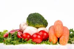 De groene peper van de saladewortel musrooms royalty-vrije stock afbeeldingen