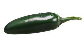 De groene peper van Serrano Chili, wegen Royalty-vrije Stock Foto's