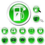 De groene Pictogrammen van de Energie Royalty-vrije Stock Afbeelding