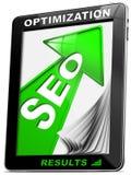 De Groene Pijl van PC van de Tablet van Seo Royalty-vrije Stock Afbeelding